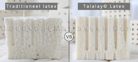 verschil tussen latex en talalay latex
